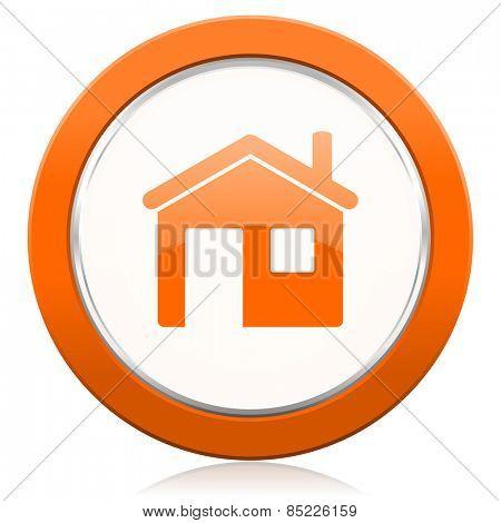 house orange icon home sign