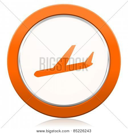 arrivals orange icon plane sign