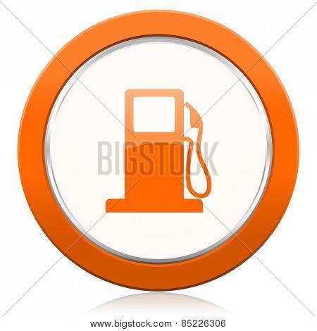 petrol orange icon gas station sign