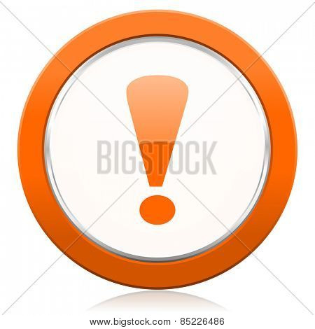 exclamation sign orange icon warning sign