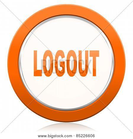 logout orange icon