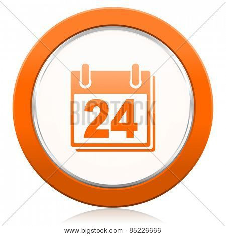 calendar orange icon organizer sign agenda symbol