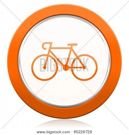 bicycle orange icon bike sign