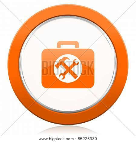 toolkit orange icon service sign