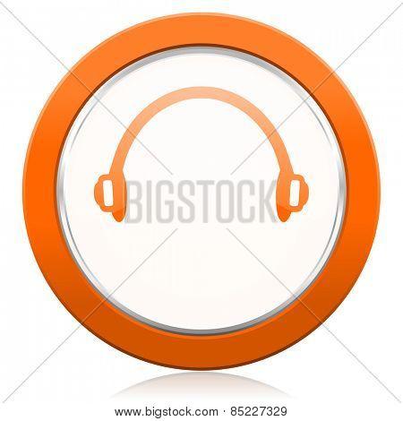 headphones orange icon