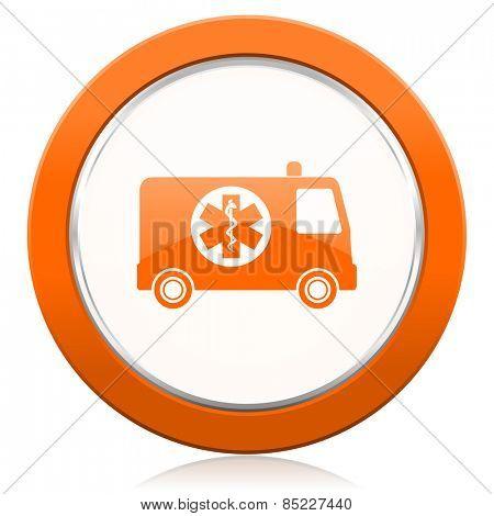ambulance orange icon