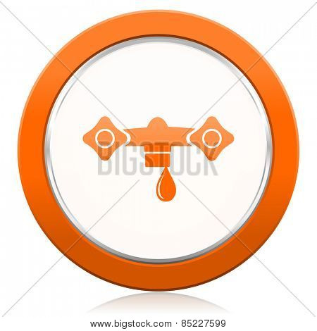 water orange icon hydraulics sign