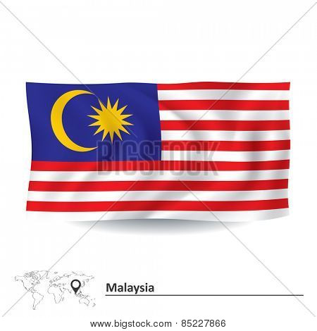 Flag of Malaysia - vector illustration