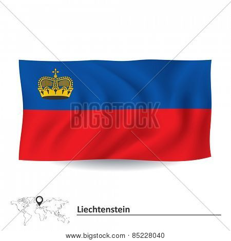 Flag of Liechtenstein - vector illustration