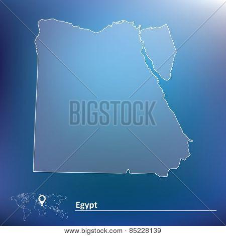Map of Egypt - vector illustration