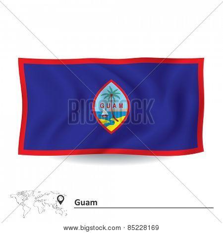 Flag of Guam - vector illustration