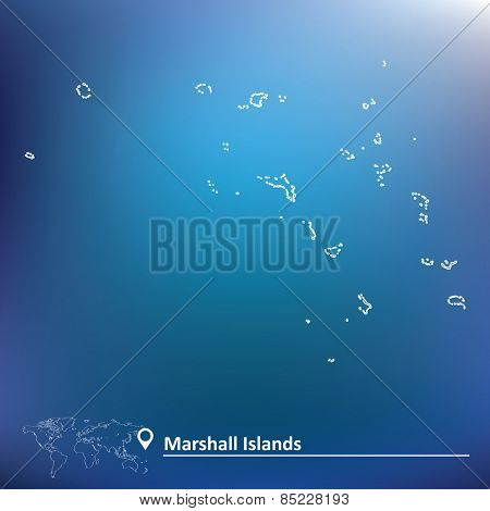 Map of Marshall Islands - vector illustration