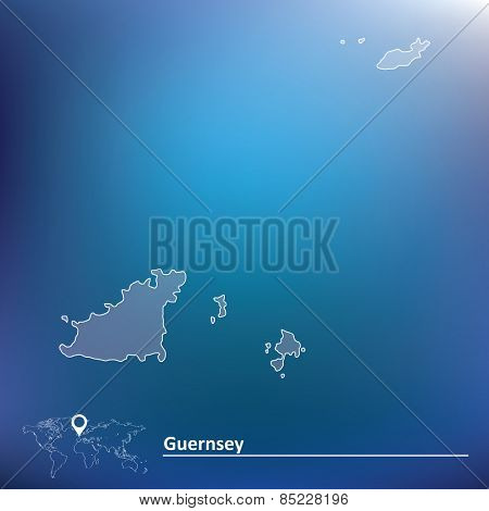 Map of Guernsey - vector illustration