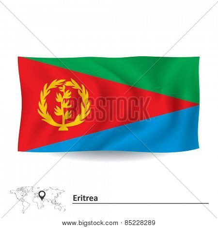 Flag of Eritrea - vector illustration