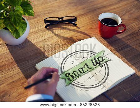 Businessman Brainstorming About Start Up