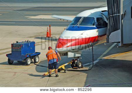 Airplane ground service