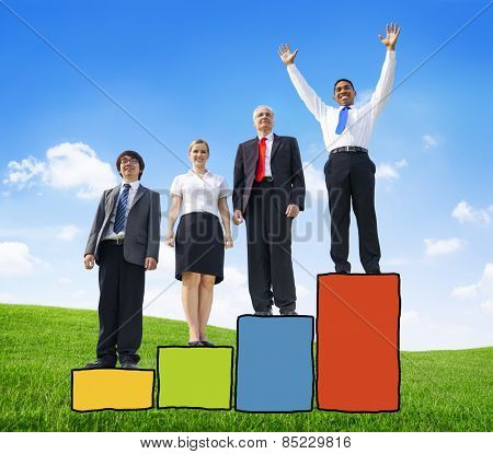 Business People Competition Performance Success Development Excellence Happiness