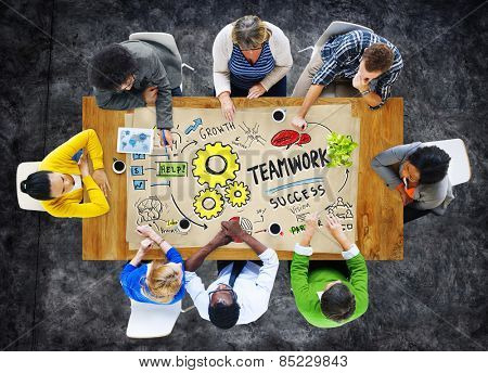 Teamwork Team Together Collaboration Meeting Brainstorming Ideas Concept