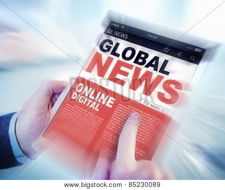 Digital Online Update Global News Concept