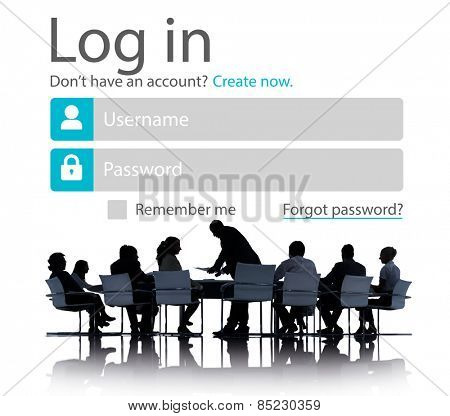 Business People Account LogIn Security Protection Concept