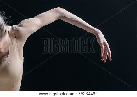 female dancer body parts in studio