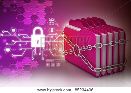 folder locked by chains