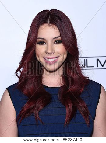 LOS ANGELES - FEB 14:  Jillian Rose Reed arrives to the Make-Up Artists & Hair Stylists Guild Awards 2015  on February 14, 2015 in Hollywood, CA