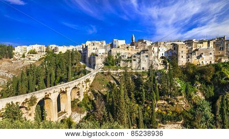Gravina in Puglia,view with antique bridge, Italy