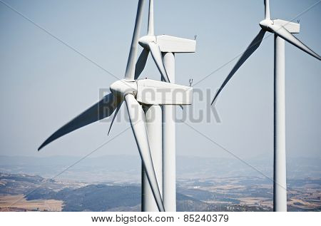 windmills for clean energy production renewable electric, Aras, Navarre, Spain