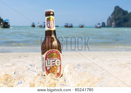 Leo Beer On The Beach
