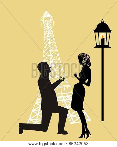 Proposal at  Eiffel  Tower Paris