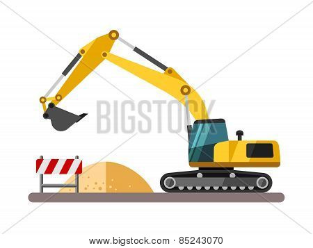 Building machines - excavator.
