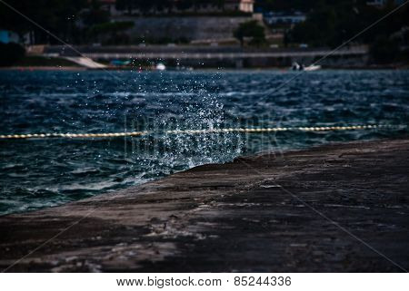 Croatian Seascape - Water Splash