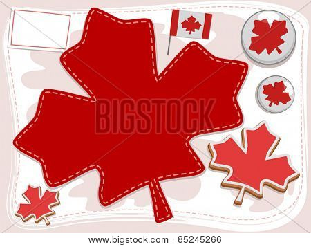 Frame Illustration of Design Elements Typically Associated with Canada