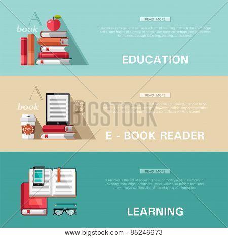 Flat design concepts - education