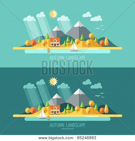 Nature - autumn landscape.