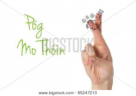 Patricks Day fingers against pog mo thoin