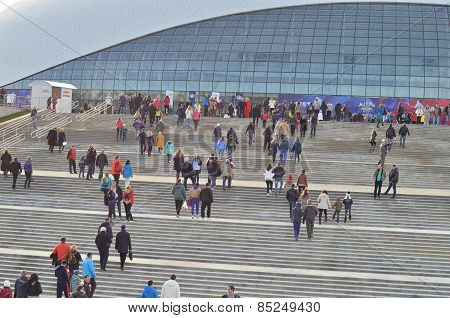 Bolshoy Ice Dome during ice hockey