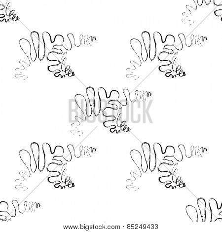 Polar bear pattern in black and white