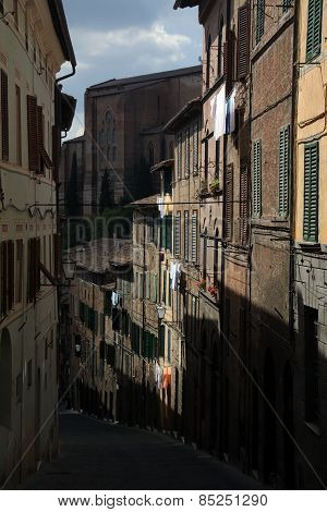 Street View In Siena Italy Old City