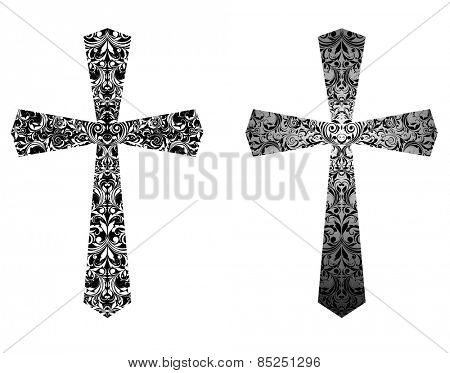 Christian crosses (black and white)