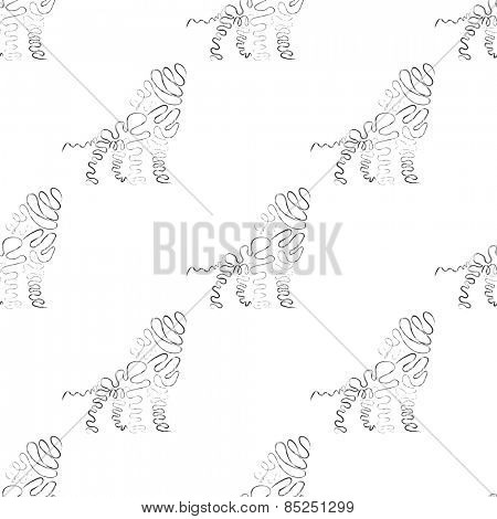 Lion pattern in black and white color