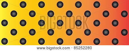 Concept conceptual orange abstract metal stainless steel aluminum perforated pattern texture mesh background as metaphor to industrial, abstract, technology, grid, silver, grate, spot, grille surface