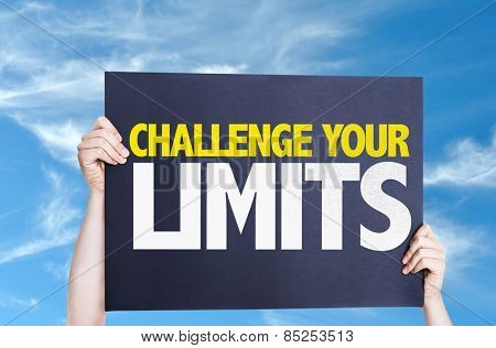 Challenge Your Limits card with sky background