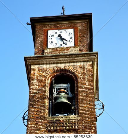In Mozzate   Old Abstract   Tower Bell Sunny Day Milan