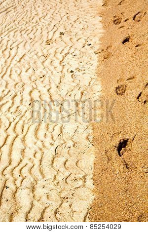 Sand In The Beach Abstract Thailand Kho Tao Bay Of A