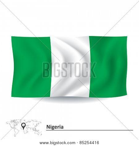 Flag of Nigeria - vector illustration