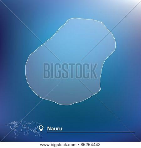 Map of Nauru - vector illustration