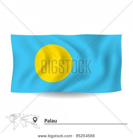 Flag of Palau - vector illustration