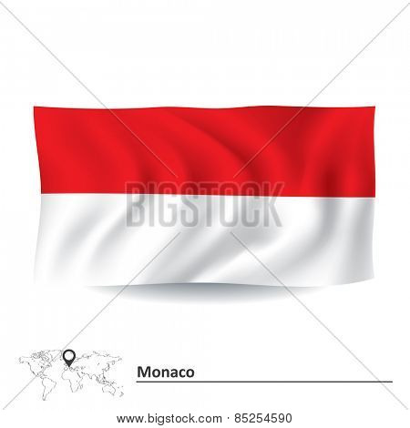 Flag of Monaco - vector illustration